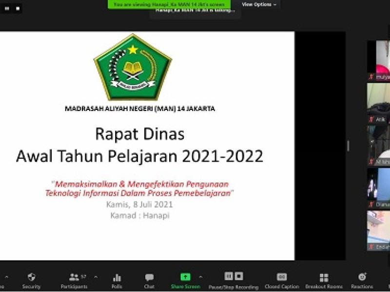 Rapat Persiapan Ajaran Baru 2021-2022